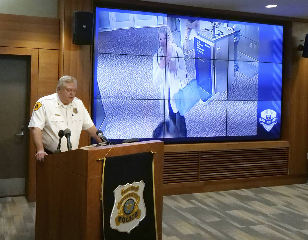 Salt Lake City assistant Police Chief Tim Doubt releases video footage of a missing University ...