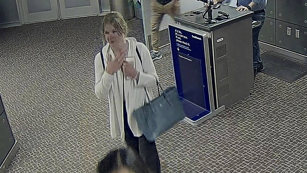 In this image made from a June 2019 Salt Lake City International Airport video provided by the ...