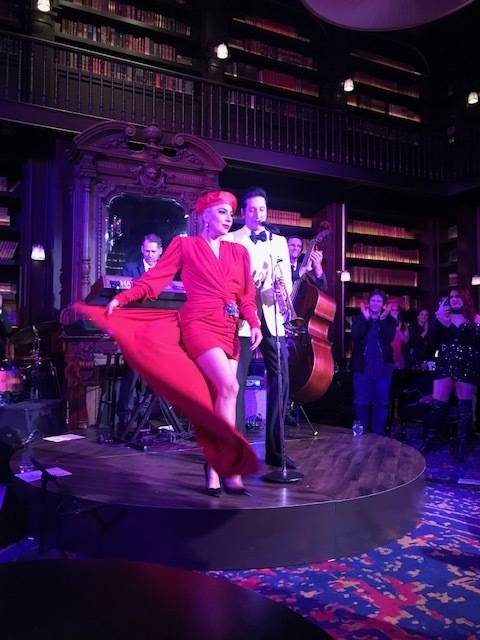"Brian Newman, shown with Lady Gaga in his ""After Dark"" show at NoMad Restaurant at Park MGM, ha ..."