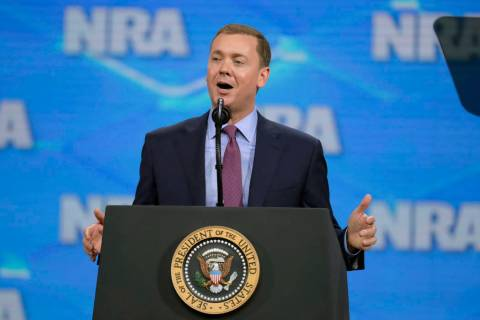A April 26, 2019, file photo shows National Rifle Association Institute for Legislative Action ...