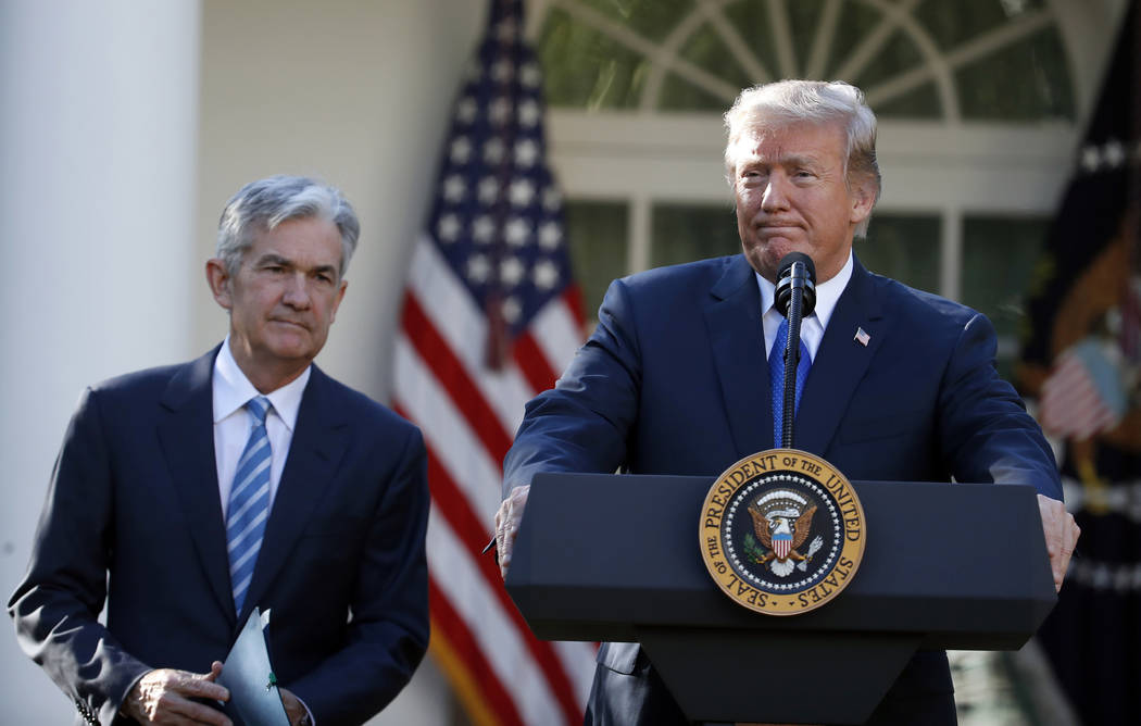 FILE - In this Nov. 2, 2017, file photo President Donald Trump announces Federal Reserve board ...