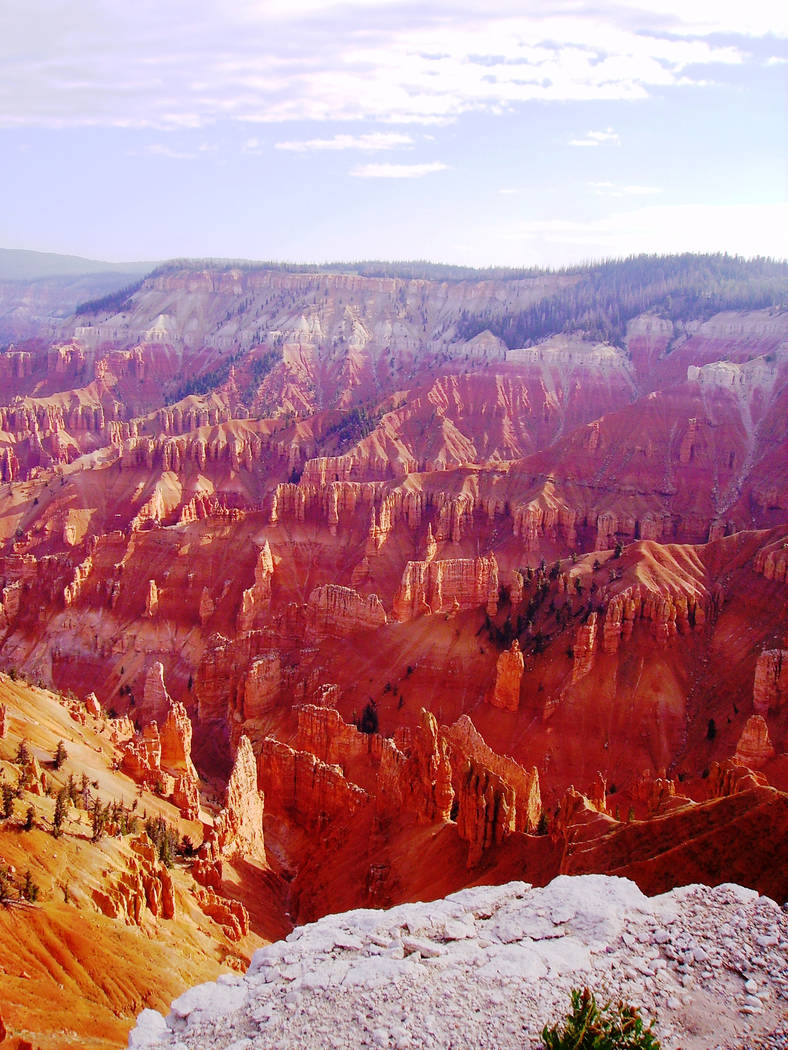 Cedar Breaks National Monument, Utah, is located on the west-facing slope of the 10,000-foot-hi ...