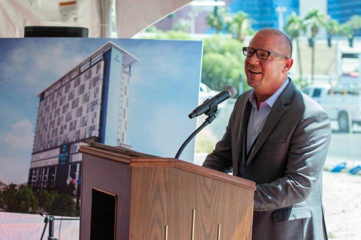 CAI Investments founder Chris Beavor plans to build a 284-room hotel near the Palms. (Courtesy ...