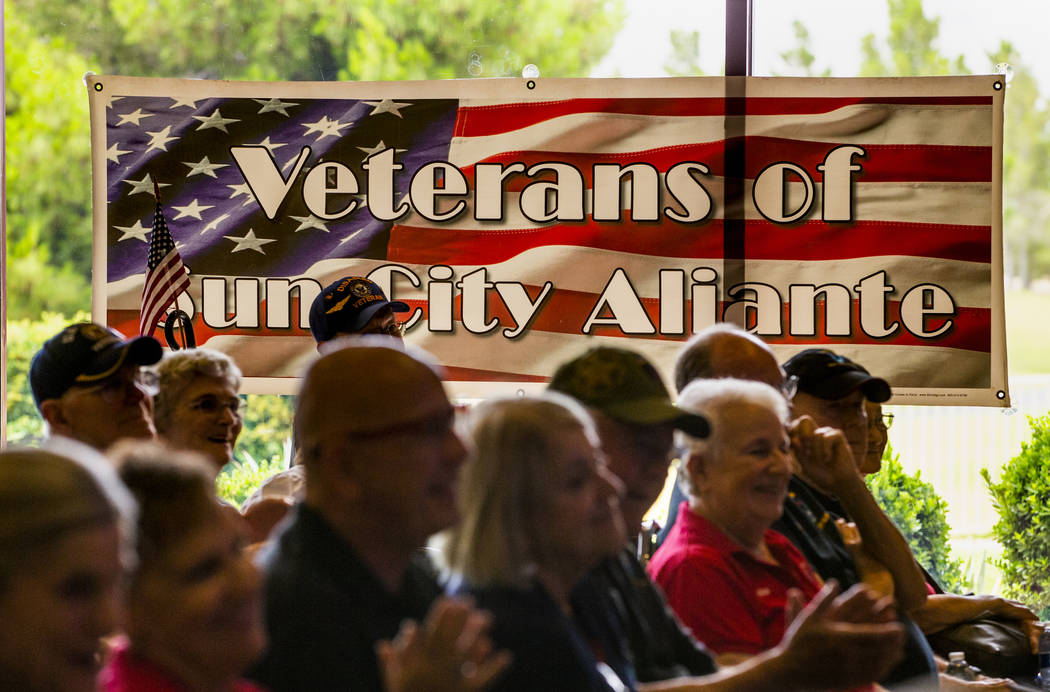 "The Veterans Club of Sun City Aliante and the city of North Las Vegas honors James ""Jim&qu ..."