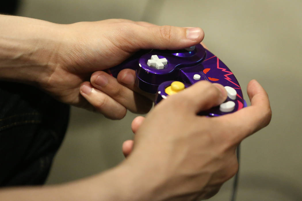 Freddie Omar Williams, of Henderson, competes in the Super Smash Bros. Ultimate Showdown tourna ...