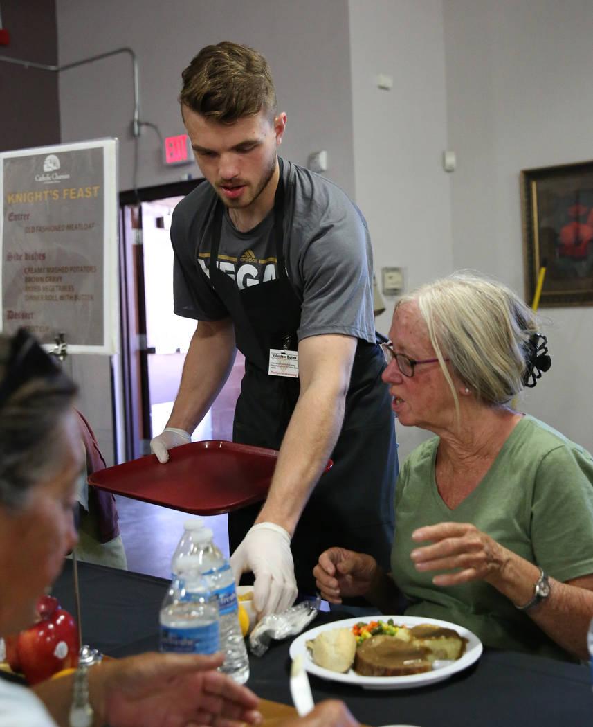 Vegas Golden Knights Development Camp participant, Dylan Ferguson of Vancouver Island, British ...