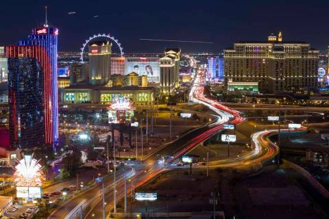 View of the Las Vegas Strip. (Richard Brian/Las Vegas Review-Journal) @vegasphotograph