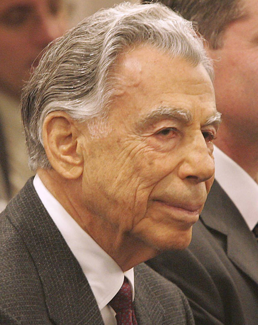 MGM Resorts' founder and largest shareholder Kirk Kerkorian is shown Feb. 22, 2005. (Las Vegas ...