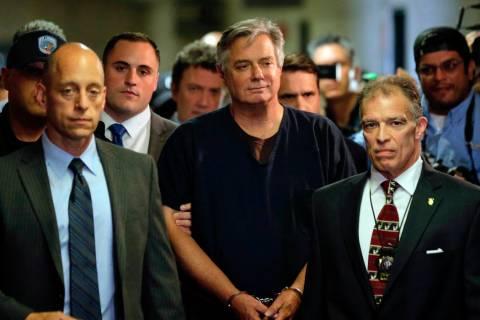 Paul Manafort arrives in court, Thursday, June 27, 2019 in New York. President Trump's f ...