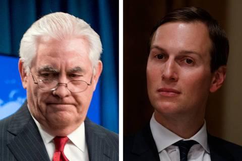Former Secretary of State Rex Tillerson cited an awkward encounter with Jared Kushner, Presiden ...