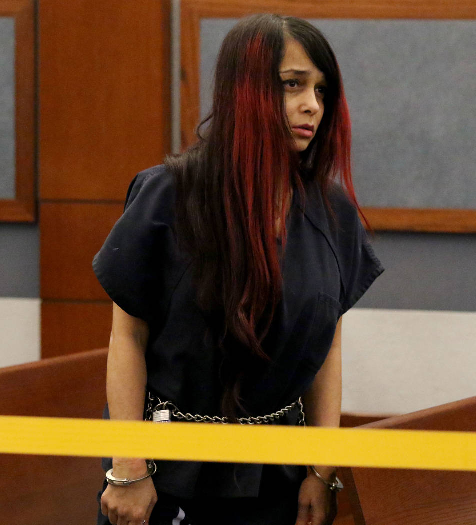 Gigi Mitchell, accused of trafficking an 11-year-old girl, appears in court during her prelimin ...