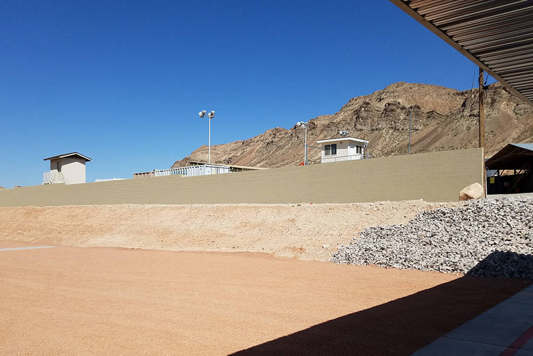 Development of the Nevada Joint Training Facility project is seen in May 2018 at the John T. Mo ...