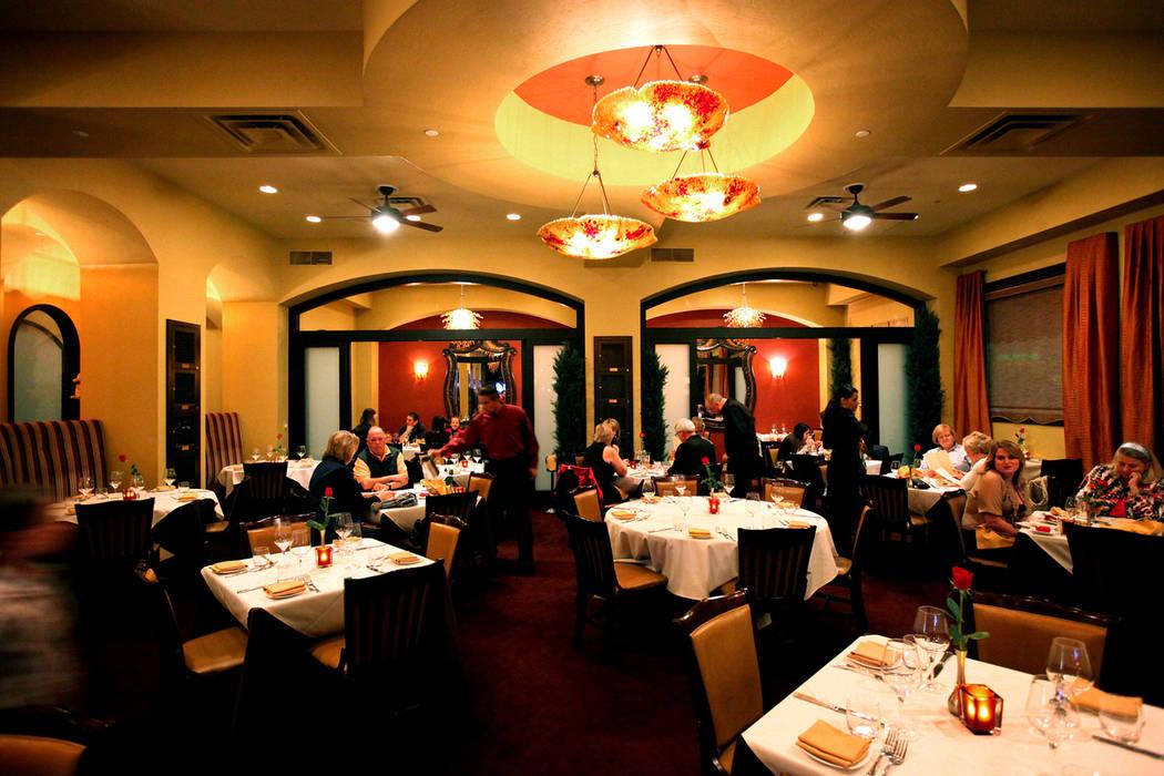 Ferraro's Italian Restaurant & Wine Bar at 4480 Paradise Rd. in Las Vegas. (Las Vegas Review-Jo ...