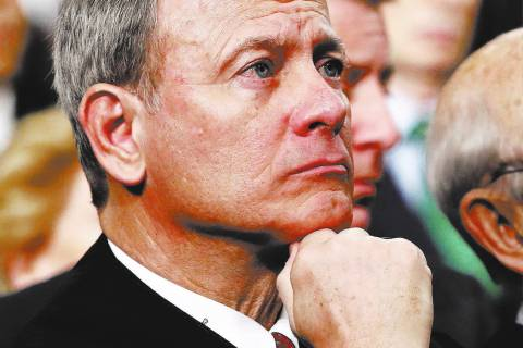 U.S. Supreme Court Chief Justice John Roberts. (Win McNamee/Pool via AP)