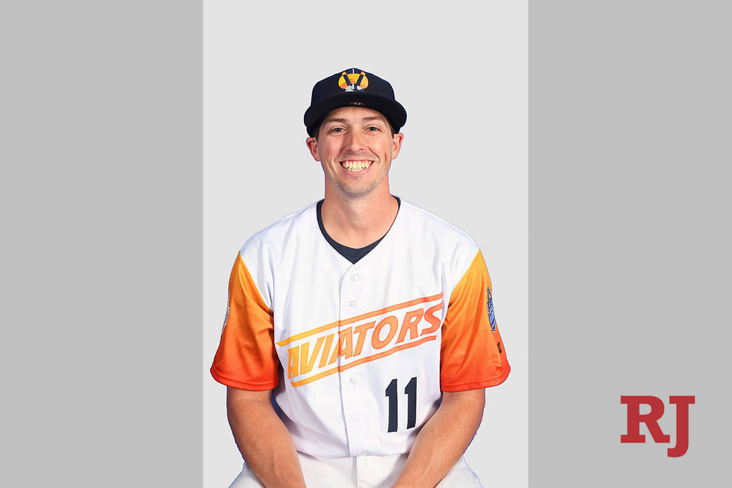 Las Vegas Aviators pitcher Ryan Dull (11) suffered the loss on Friday, June 28, 2019. (Las Vega ...