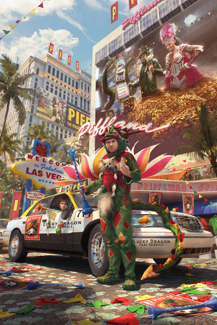 A promotional photo of Piff the Magic Dragon and Mr. Piffles, announcing the newly named Piff T ...