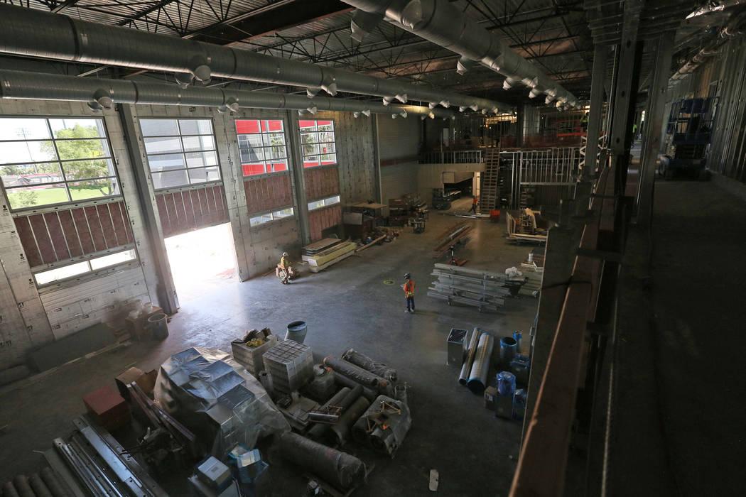 The future weight room at the new UNLV Fertitta Football Complex, still under construction, in ...