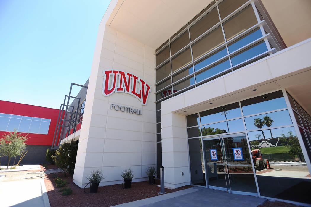 The new UNLV Fertitta Football Complex, still under construction, in Las Vegas, Monday, June 24 ...