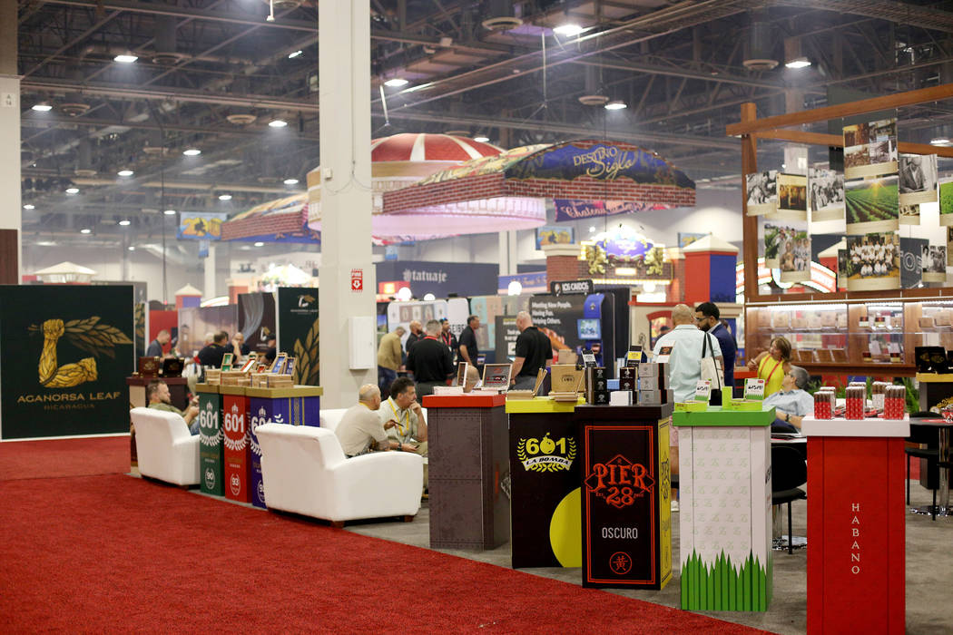 The International Premium Cigar & Pipe Retailers Association annual convention at the Sands ...