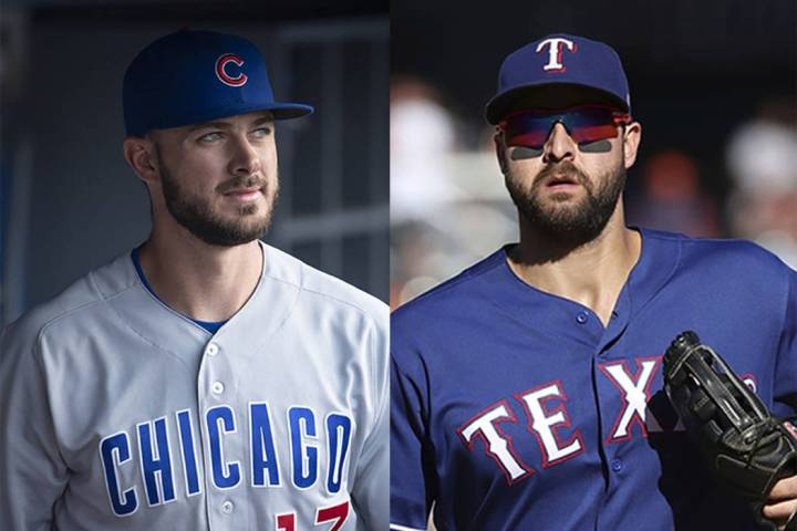Kris Bryant, left, of the Chicago Cubs, and Joey Gallo of the Texas Rangers (AP file photos)