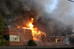 Massive fire destroys business complex in central Las Vegas