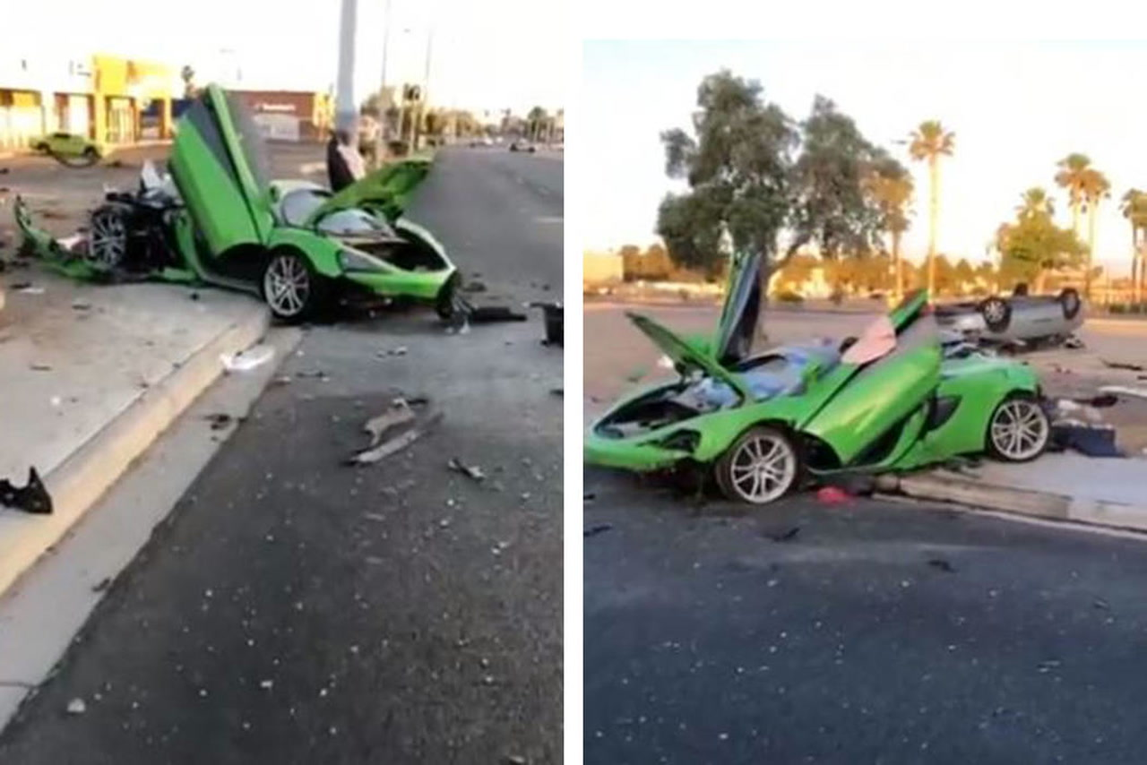 New video shows McLaren moments after fatal central Las