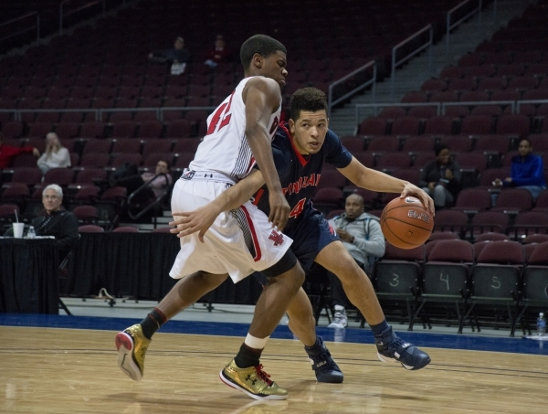 Findlay Prep's Skylar Mays (4) works his way around a Victory Prep player during the f ...