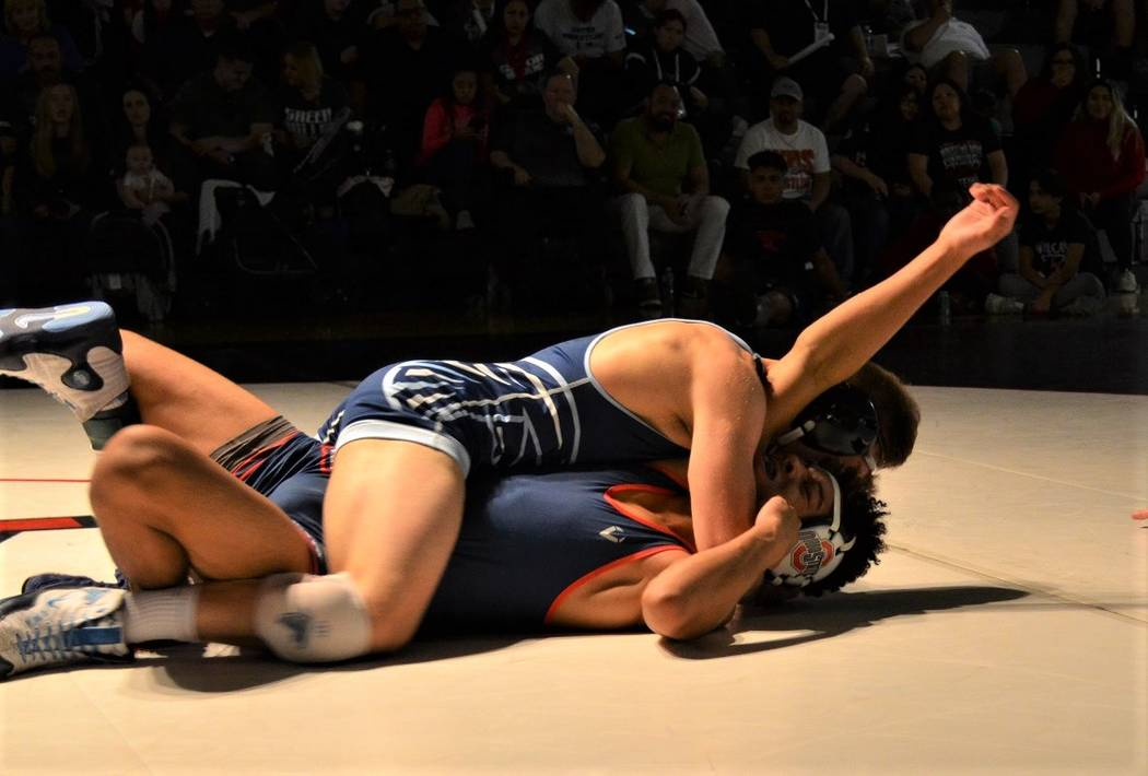 Foothill's Wyatt English puts the finishing touches on Liberty's Jayden Rookhuyz ...