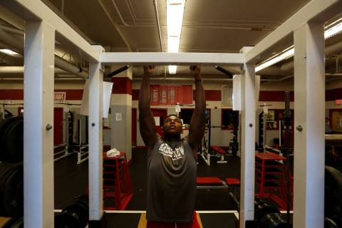 Arbor View's Elijah Wade, the best uncommitted football recruit in Nevada, completes p ...