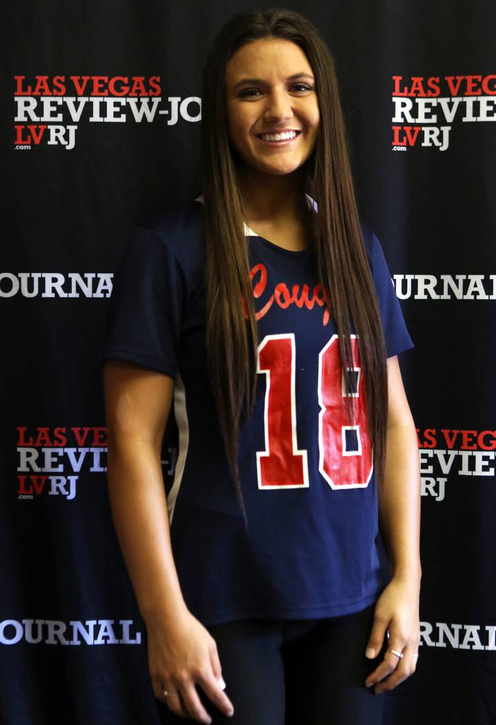 Jensen Boman from Coronado High School's flag football team is photographed at the Rev ...