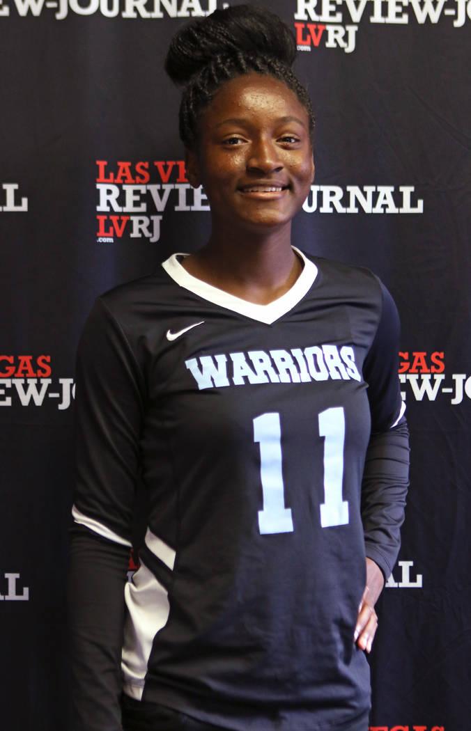 Shydaé Elam from Western High School's flag football team is photographed at the ...
