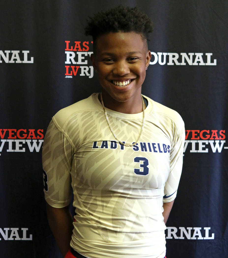 Cheyenne High School flag football standout Eleseana Patterson is photographed at the Review ...