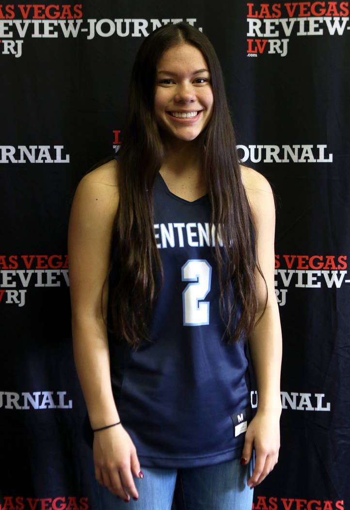 Centennial High School basketball standout Mel Isbell is photographed at the Review-Journal ...