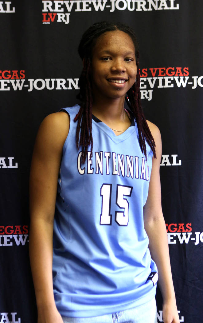 Centennial High School basketball standout Daejah Phillips is photographed at the Review-Jou ...