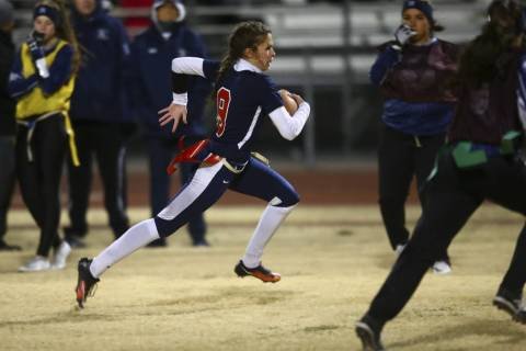 Coronado's Caitlin Shannon (9) runs the ball against Shadow Ridge during the Class 4A ...