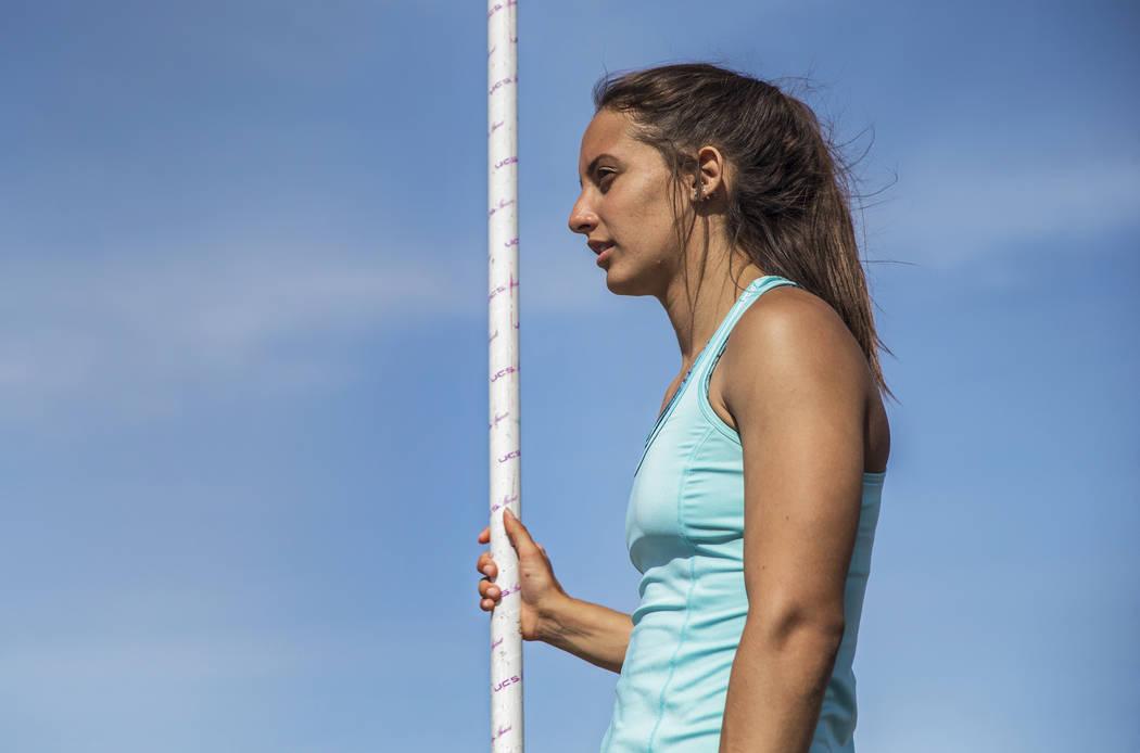 Liberty High School's Gabby Carson is one of Nevada's top prep pole vaulters. Ph ...