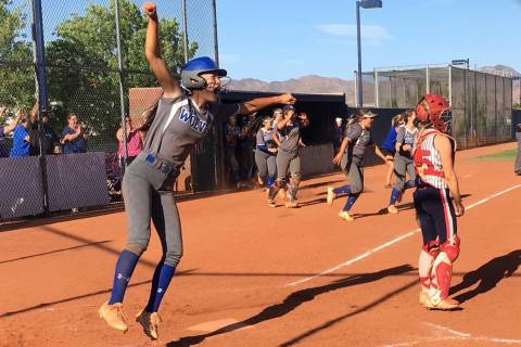 Basic's softball team celebrates advancing to the Sunrise Region title game after beat ...