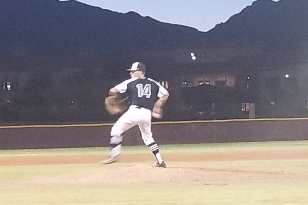 Rancho's Joey Walls fires a pitch during the Class 4A Senior All-Star Game at Faith Lu ...