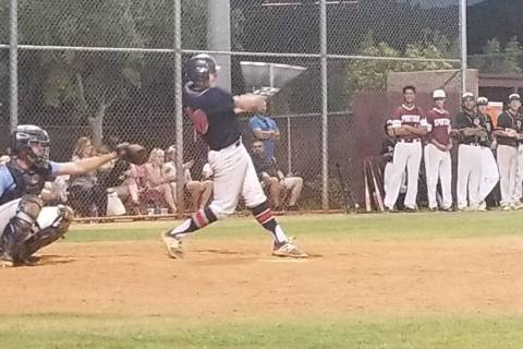 Coronado's Cristian Herrera doubles during the Class 4A Senior All-Star Game at Faith ...