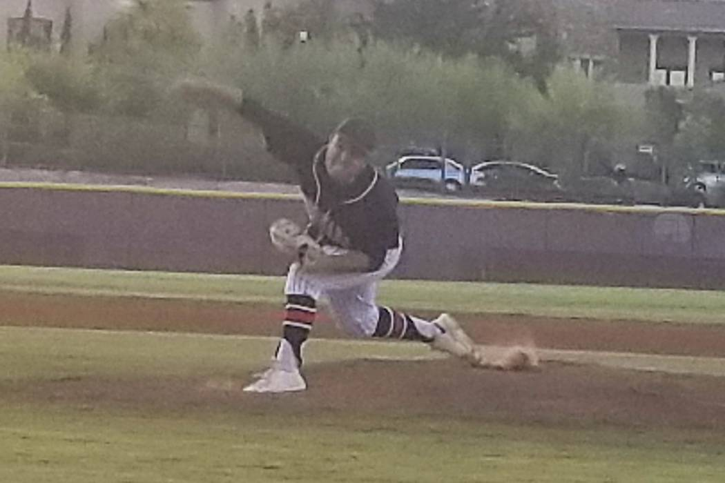 Coronado's Ryan Murphy fires a pitch during the Class 4A Senior All-Star Game at Faith ...