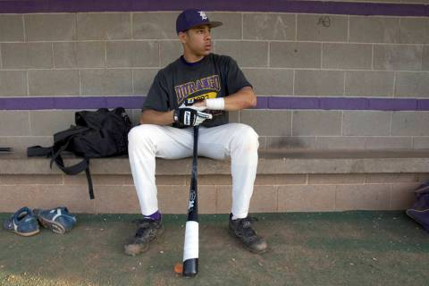 Durango High School senior shortstop Tommy Pham prepares for practice at the school Thursday ...
