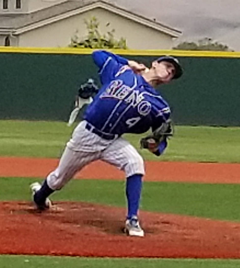 Reno's Brent Thomas is a member of the Las Vegas Review-Journal's all-state base ...