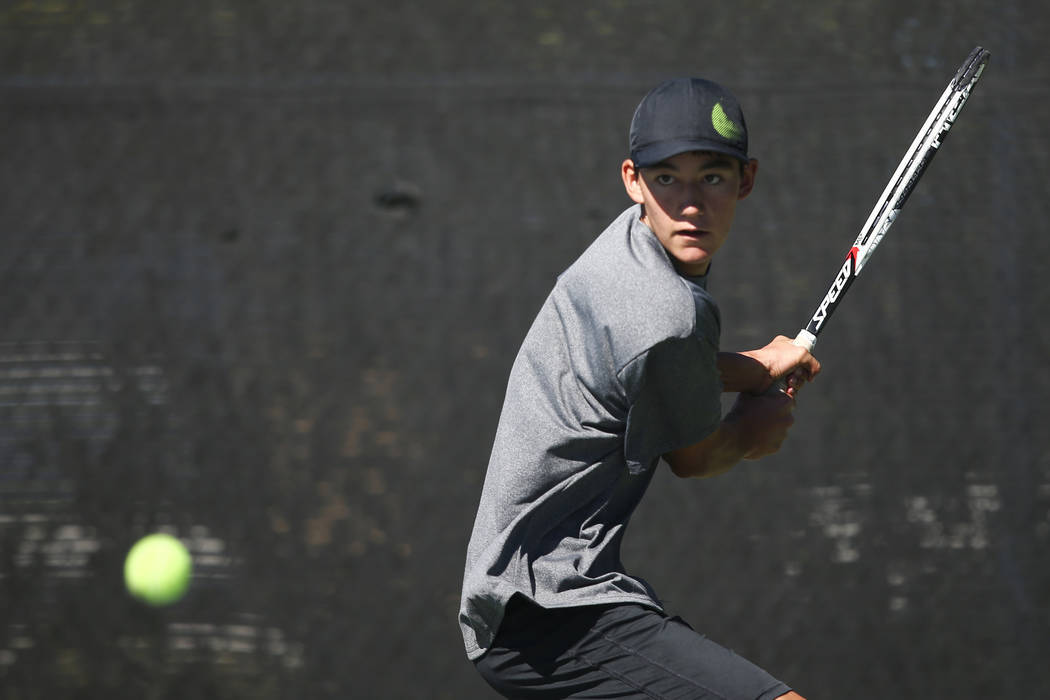 Axel Botticelli won the Class 4A state singles title last year. Chase Stevens/Las Vegas Revi ...
