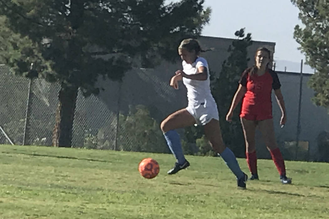 Coronado and Foothill compete in girls soccer on Wednesday, Sept. 12, 2018 at Coronado. The ...