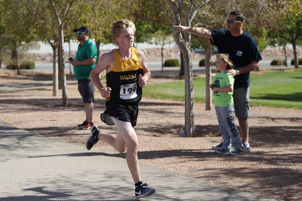 Matthew Gordon (199), a 16-year-old sophomore from Galena High School in Reno, runs during t ...