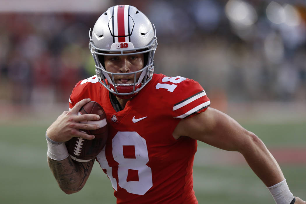Ohio State quarterback Tate Martell plays against Tulane during an NCAA college football gam ...