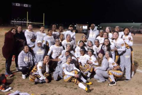 Bonanza's team poses with the Mountain Region championship trophy. (Courtesy of Dion L ...