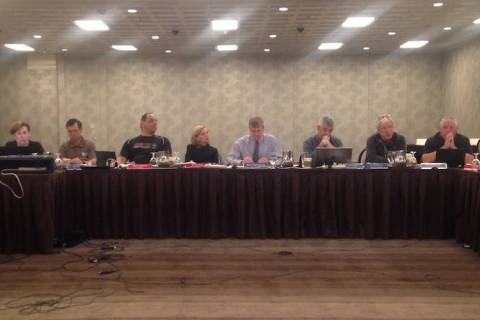 The Nevada Interscholastic Activities Association's board of control discusses an agen ...