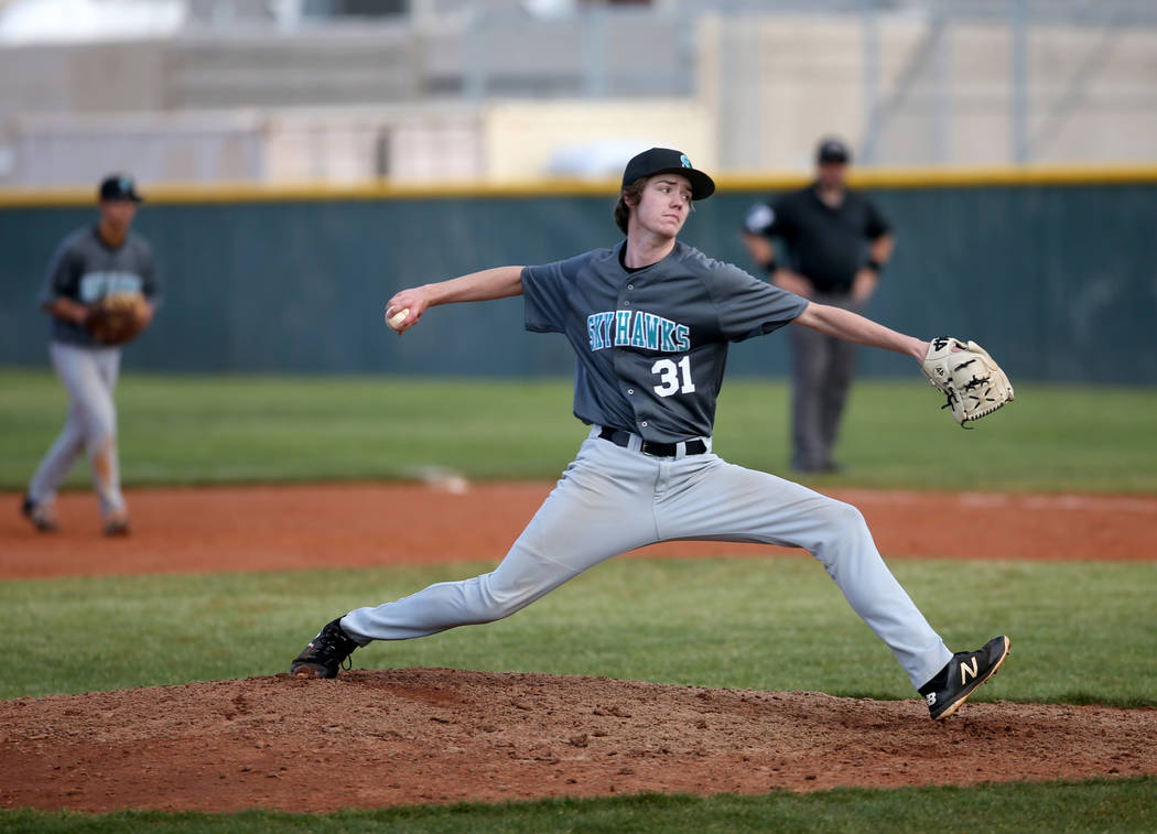 Silverado pitcher Jared Nixon (31) throws against Cimarron-Memorial in the fourth inning of ...