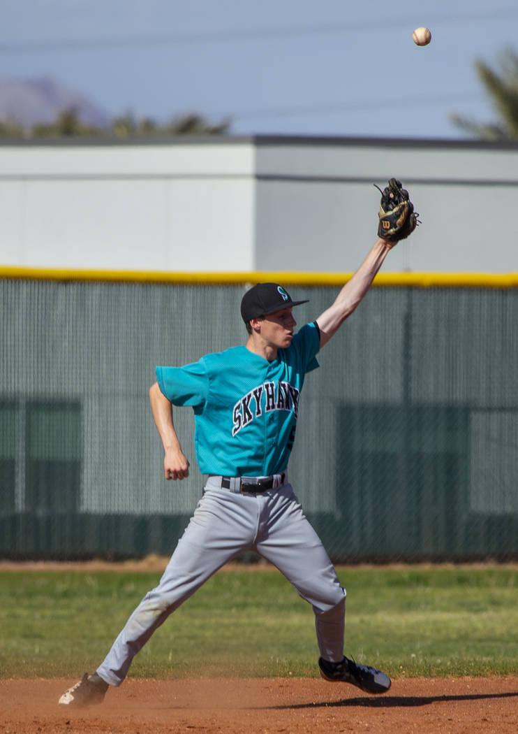 Silverado infielder Andrew Maxwell (5) is not able to handle a tough hop from a Coronado bat ...